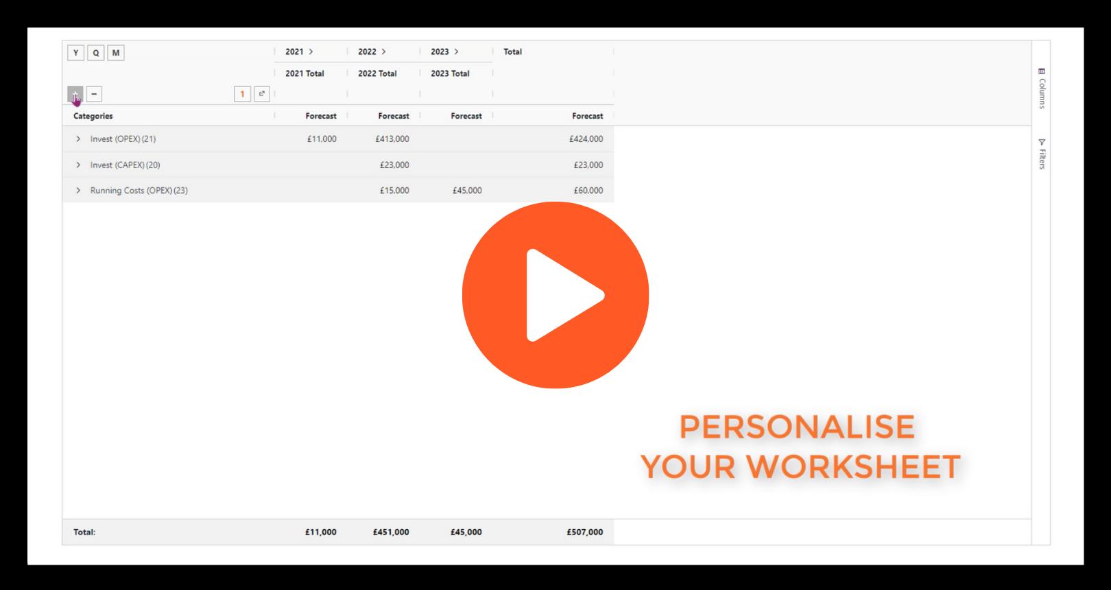 Personalise worksheet